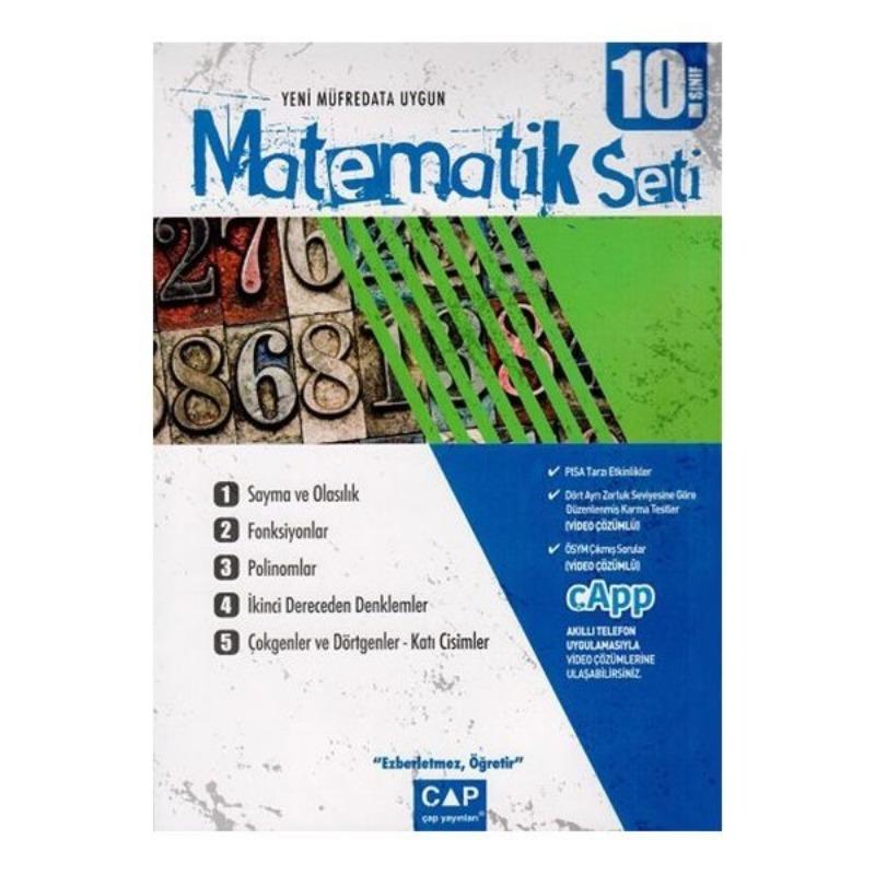 Çap Yayınları 10. Sınıf Anadolu Lisesi Matematik Seti