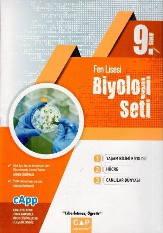 Çap Yayınları 9. Sınıf Fen Lisesi Biyoloji Seti