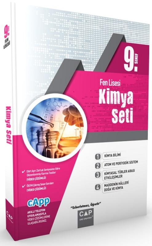 Çap Yayınları 9. Sınıf Fen Lisesi Kimya Seti