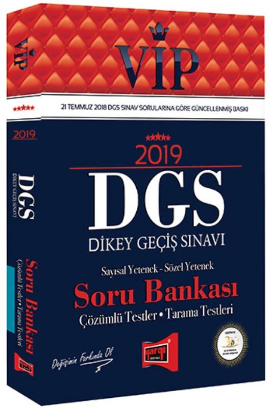 Yargı Yayınları 2019 DGS VIP Sayısal  Sözel Yetenek Soru Bankası