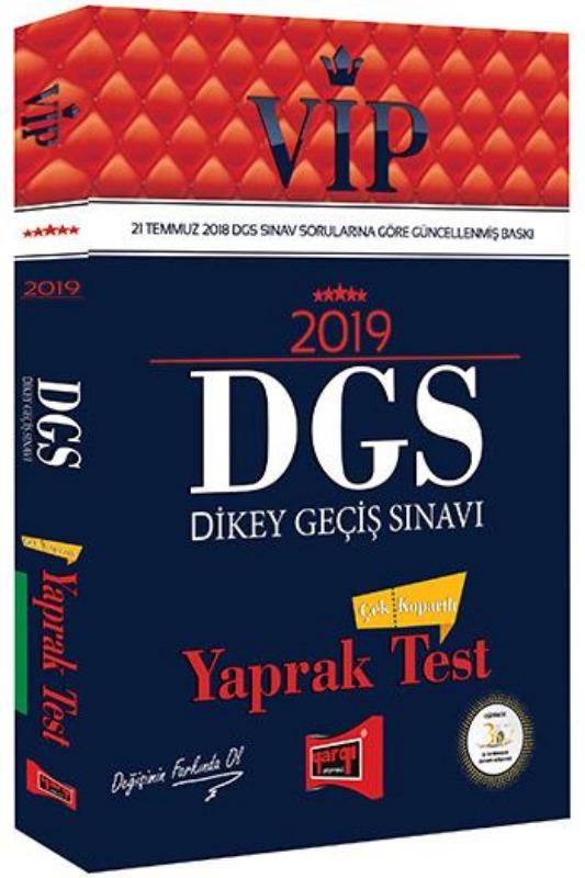 Yargı Yayınları 2019 DGS VIP Çek Kopartlı Yaprak Test