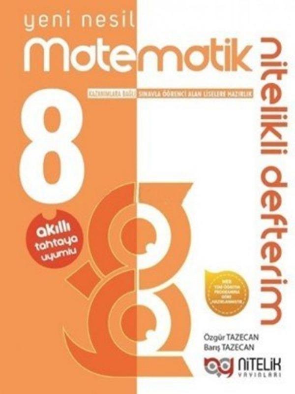 8.Sınıf Yeni Nesil Matematik Nitelikli Defterim Nitelik Yayınları