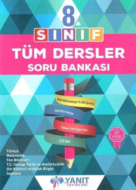 8.Sınıf Tüm Dersler Soru Bankası Yanıt Yayınları