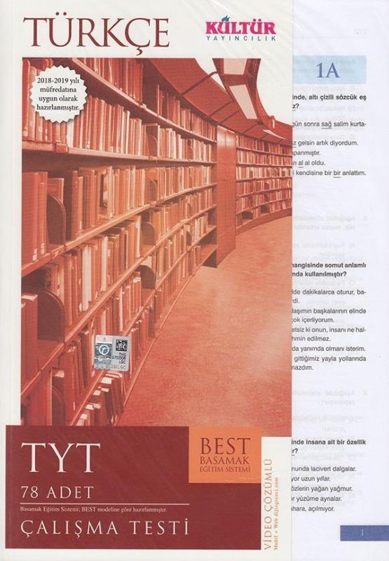 Kültür Yayıncılık TYT Türkçe BEST Çalışma Testi