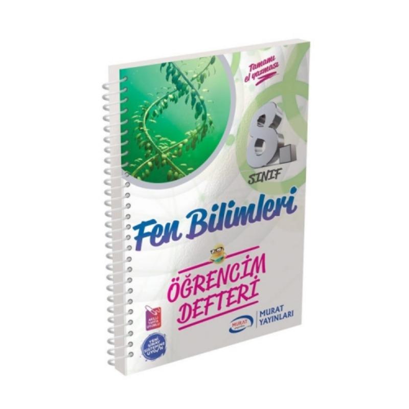 Murat Yayınları 8. Sınıf Fen Bilimleri Öğrencim Defteri