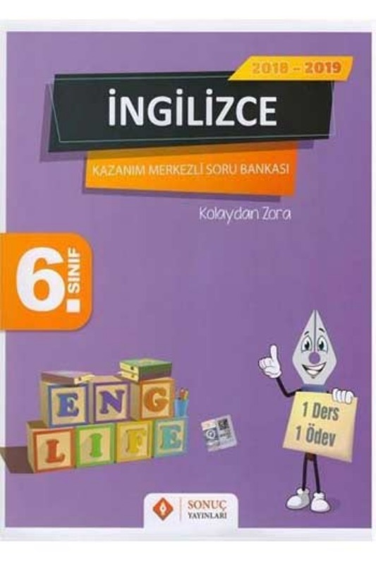 Sonuç Yayınları 6. Sınıf İngilizce Kazanım Merkezli Soru Bankası Seti