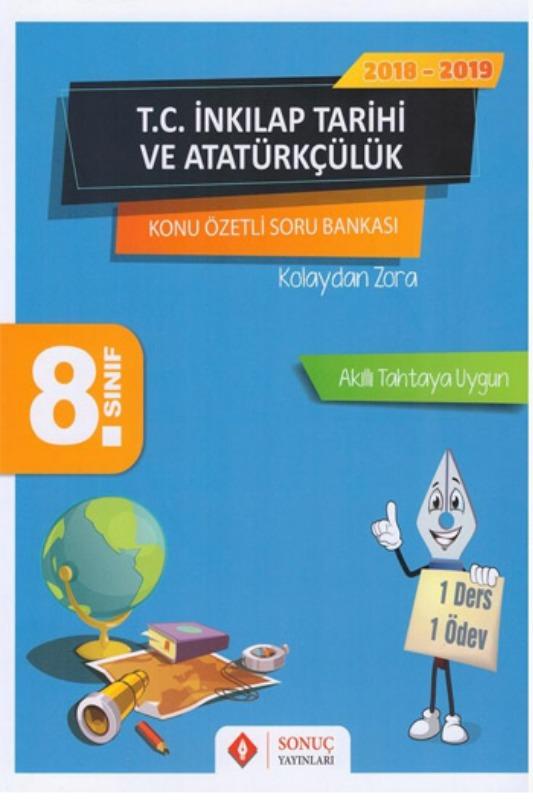 Sonuç Yayınları 8. Sınıf T.C. İnkılap Tarihi ve Atatürkçülük Kazanım Merkezli Soru Bankası
