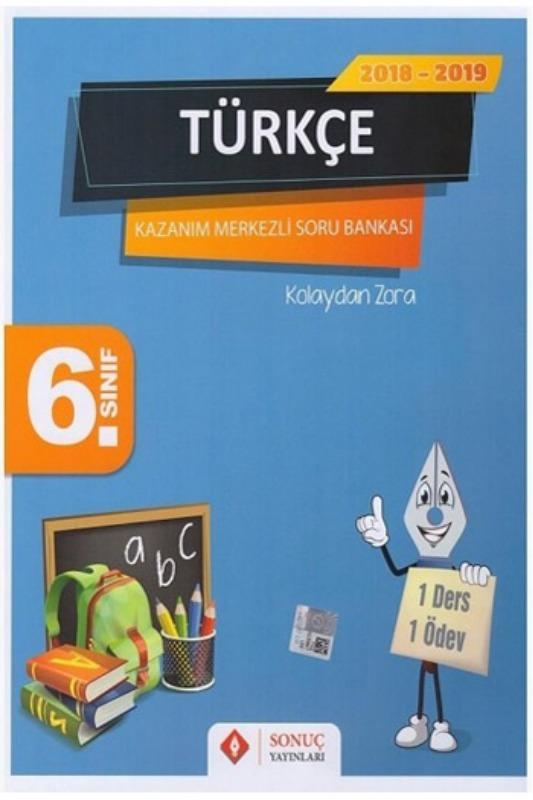 Sonuç Yayınları 6. Sınıf Türkçe Kazanım Merkezli Soru Bankası