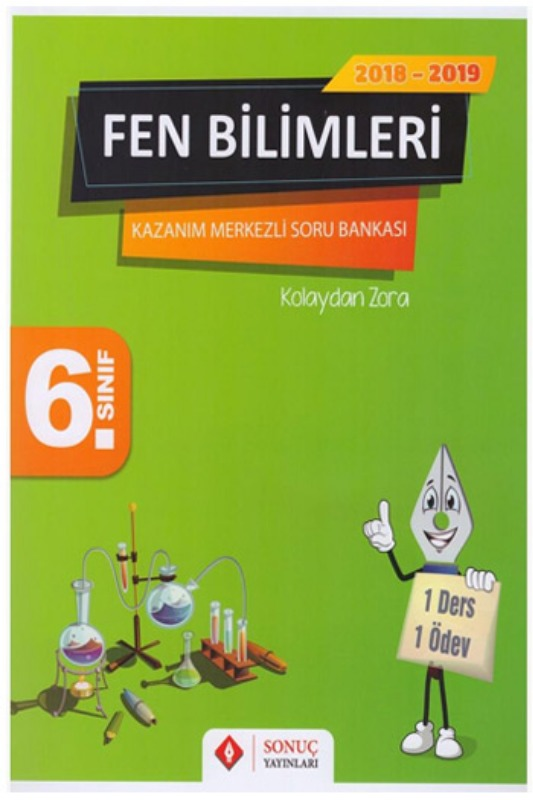 Sonuç Yayınları 6. Sınıf Fen Bilimleri Kazanım Merkezli Soru Bankası