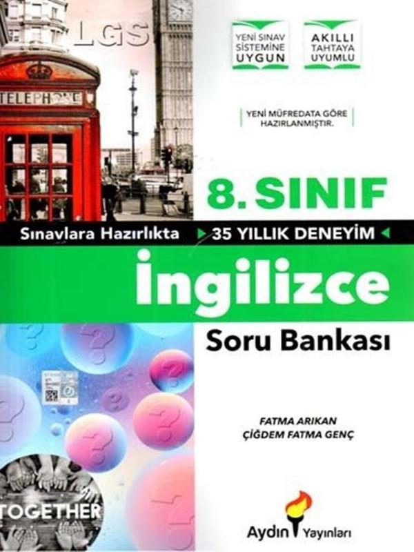 8.Sınıf İngilizce Soru Bankası Aydın Yayınları