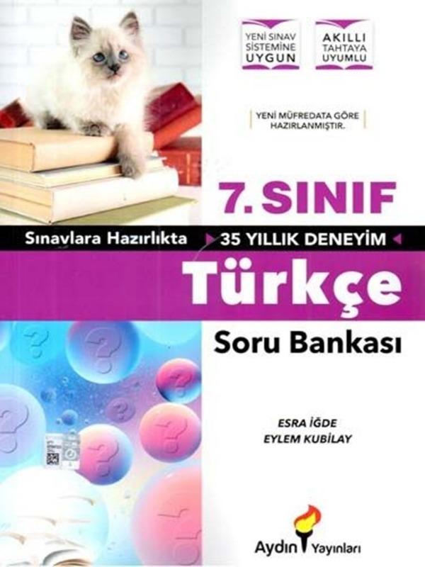 7.Sınıf Türkçe Soru Bankası Aydın Yayınları