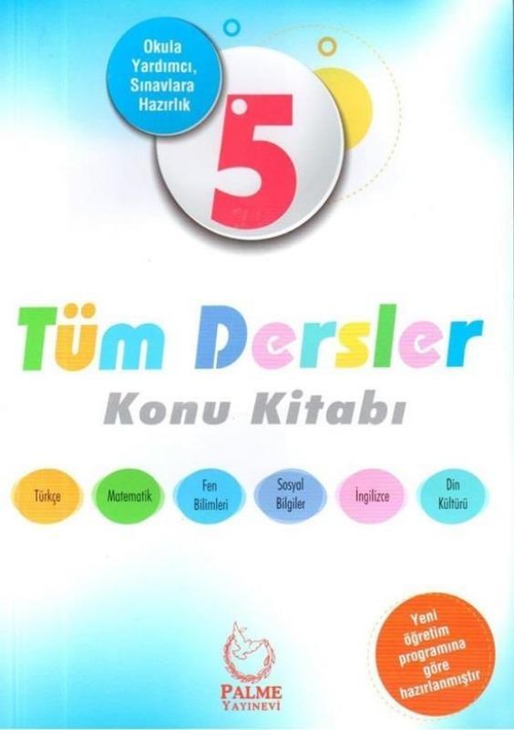 5.Sınıf Tüm Dersler Konu Kitabı Palme Yayınları
