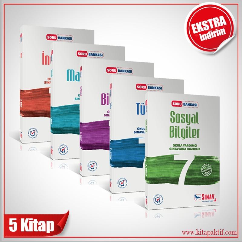 Sınav Yayınları 7. Sınıf Tüm Dersler Soru Bankası Kazandıran Set
