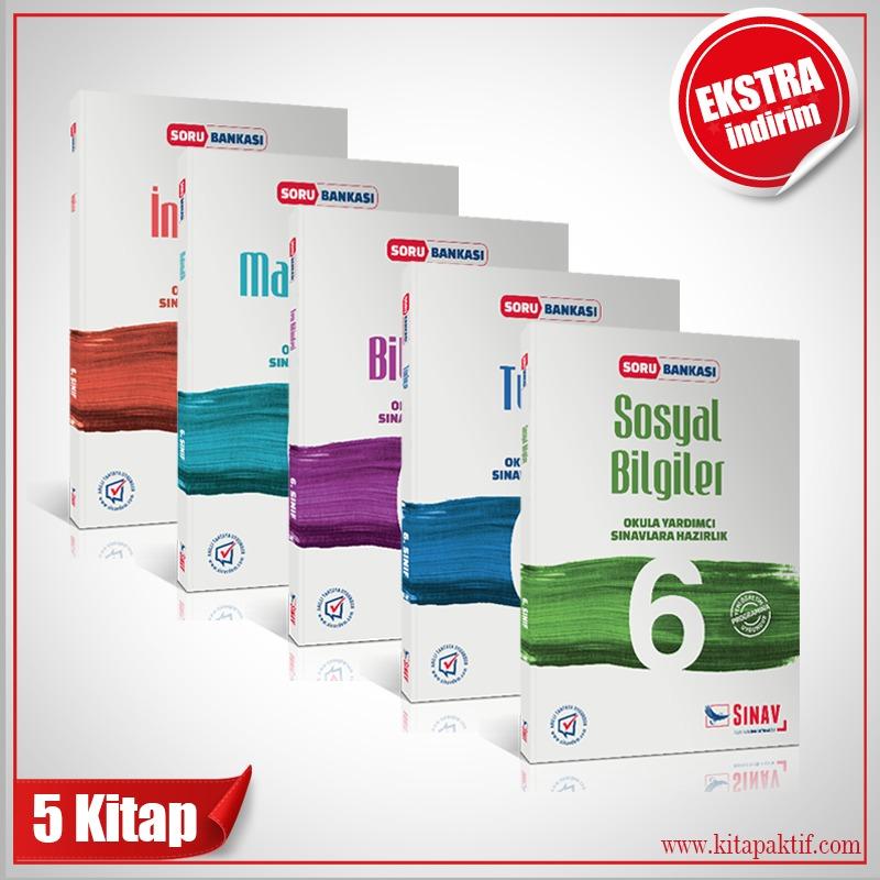 Sınav Yayınları 6. Sınıf Tüm Dersler Soru Bankası Kazandıran Set