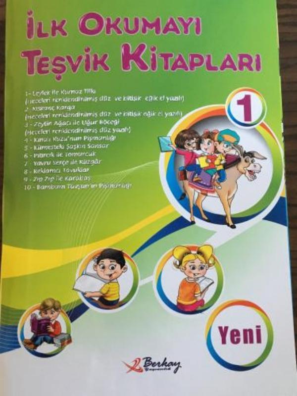 1.Sınıf İlk Okumayı Teşvik Kitapları 10 Kitap Berkay Yayınları