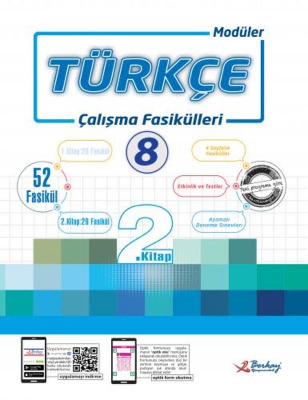 8.Sınıf Türkçe Çalışma Fasikülleri Berkay Yayınları