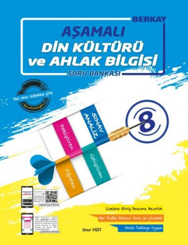 8.Sınıf Aşamalı Din Kültürü ve Ahlak Bilgisi Soru Bankası Berkay Yayınları