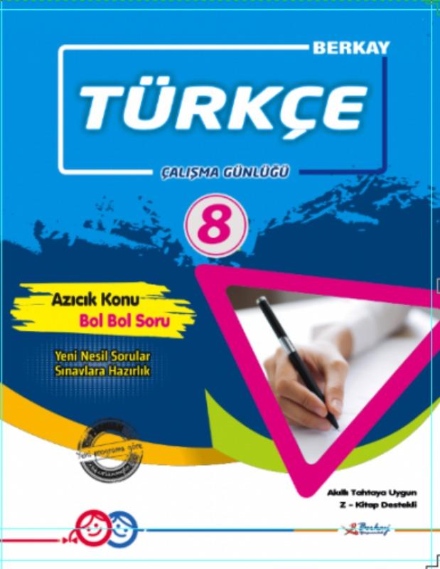 8.Sınıf Türkçe Çalışma Günlüğü Berkay Yayınları