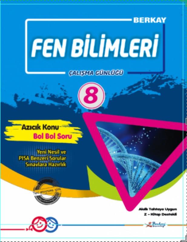 8.Sınıf Fen Bilimleri Çalışma Günlüğü Berkay Yayınları