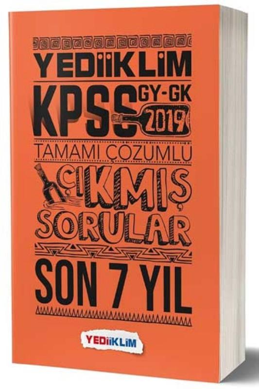 Yediiklim Yayınları 2019 Genel Yetenek Genel Kültür Son 7 Yıl Tamamı Çözümlü Çıkmış Sorular