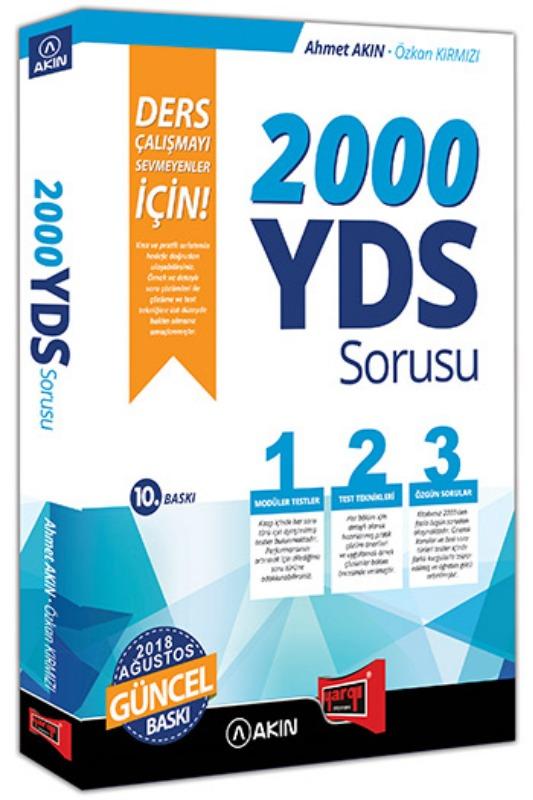 Yargı Yayınları 2000 YDS Sorusu Ders Çalışmayı Sevmeyenler İçin 10. Baskı