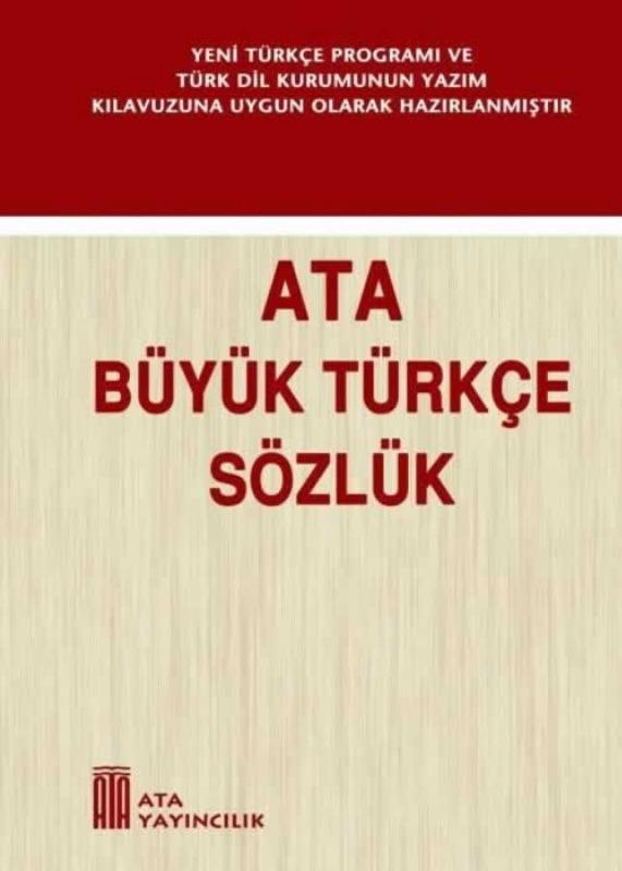 Büyük Türkçe Sözlük (Sert Kapak) Ata Yayınları