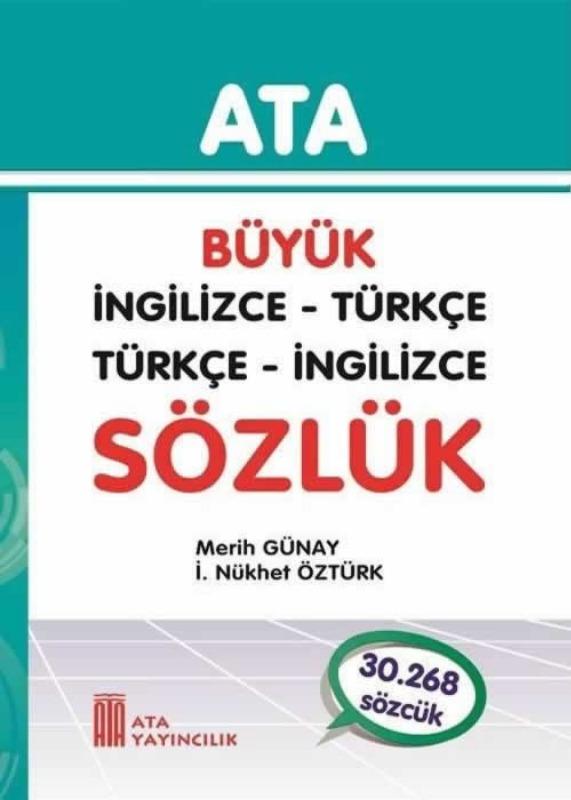 Büyük İngilizce - Türkçe, Türkçe - İngilizce (Karton Kapak) Ata Yayınları
