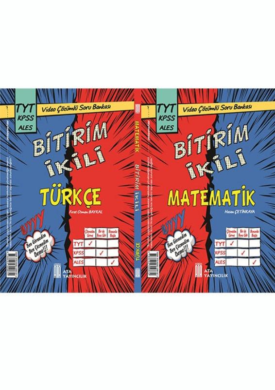 TYT KPSS ALES Bitirim İkili Türkçe Matematik Soru Bankası Ata Yayınları