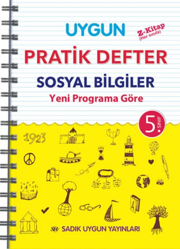 5. Sınıf Uygun – Pratik Defter Sosyal Bilgiler   Sadık Uygun Yayınları