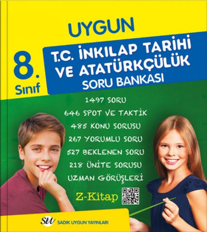 8. Sınıf İnkılap Tarihi ve Atatürkçülük Soru Bankası Sadık Uygun Yayınları