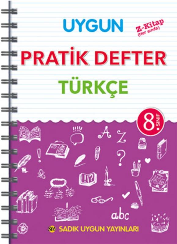 8. Sınıf Uygun – Pratik Defter Türkçe Sadık Uygun Yayınları