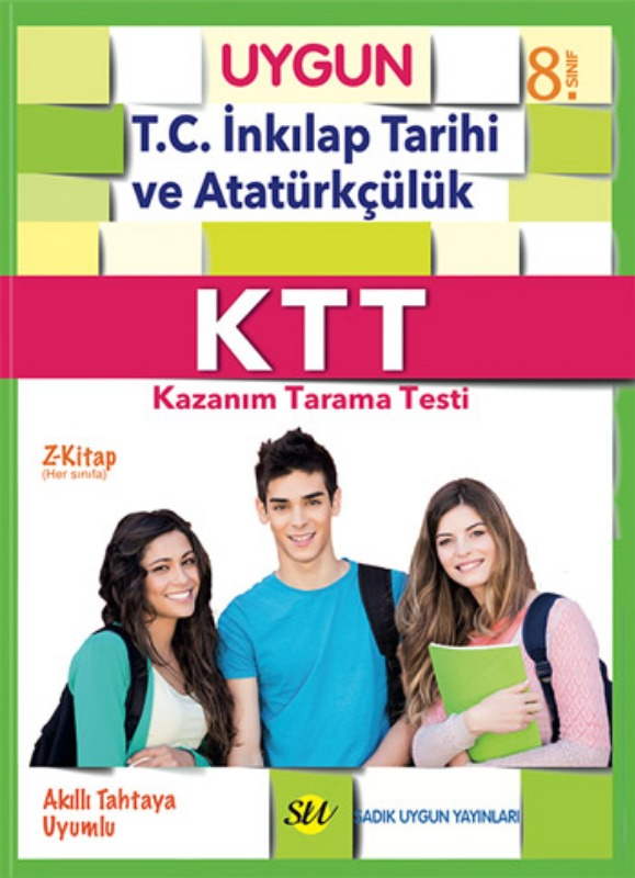 8.Sınıf KTT İnkılap Tarihi ve Atatürkçülük (Kazanım Tarama Testi) Kitabı Sadık Uygun Yayınları