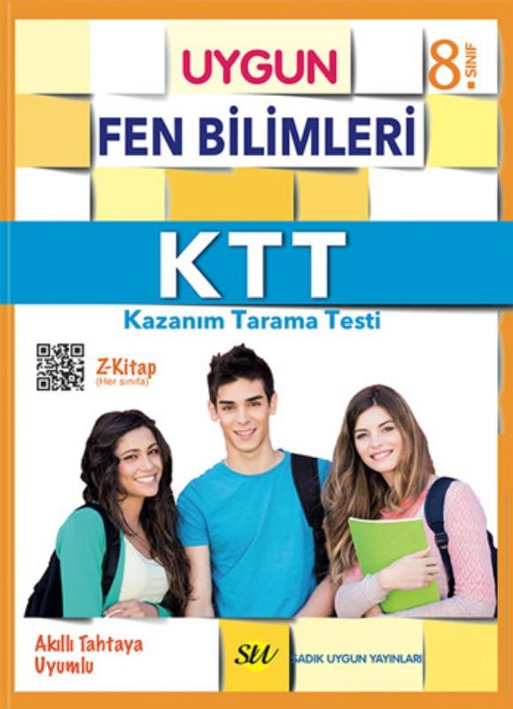 8. Sınıf KTT Fen Bilimleri (Kazanım Tarama Testi) Kitabı  Sadık Uygun Yayınları