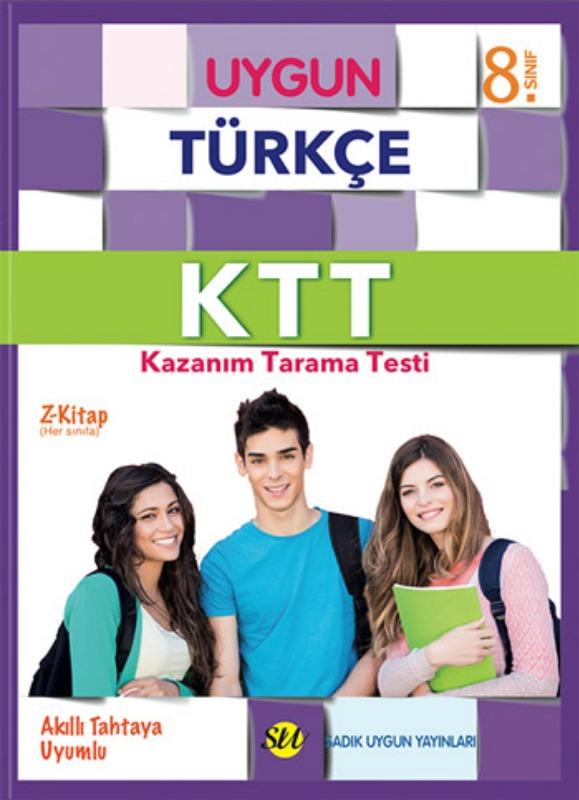 8. Sınıf KTT Türkçe (Kazanım Tarama Testi) Kitabı  Sadık Uygun Yayınları