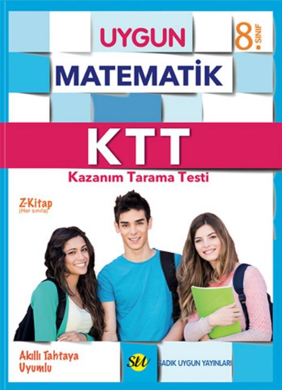 8. Sınıf KTT Matematik (Kazanım Tarama Testleri) Kitabı Sadık Uygun Yayınları