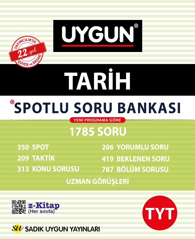 TYT Spotlu Tarih  Sadık Uygun Yayınları
