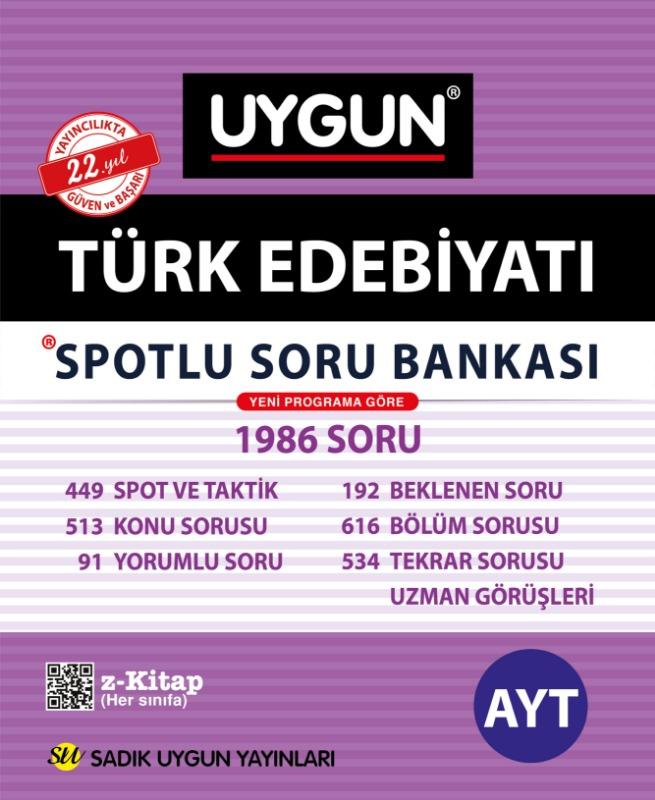AYT Spotlu Türk Edebiyatı  Sadık Uygun Yayınları