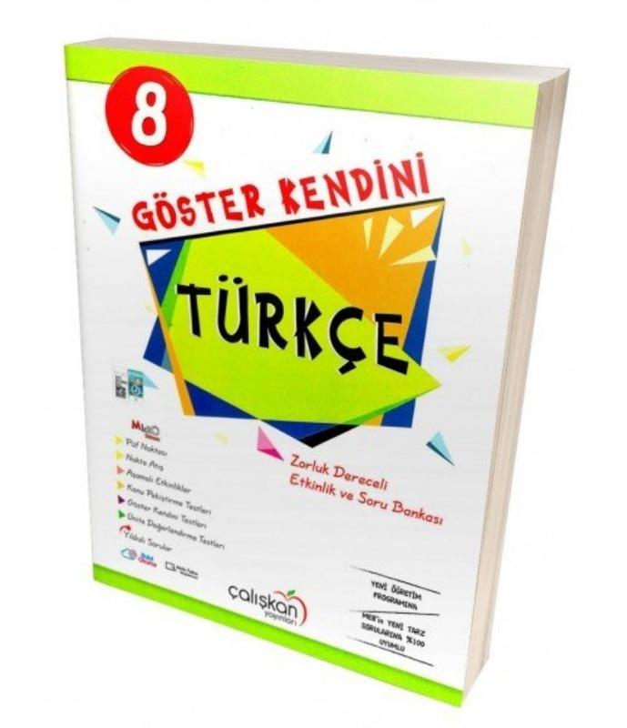 Çalışkan 8. Sınıf Türkçe Göster Kendini Etkinlik ve Soru Bankası