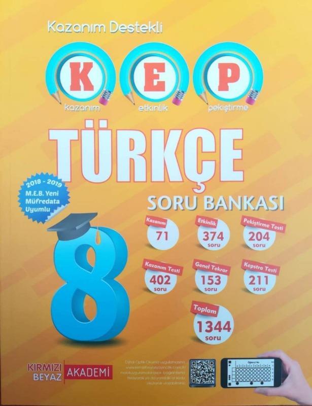 Kırmızı Beyaz 8.Sınıf LGS KEP Türkçe Soru Bankası