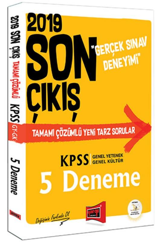Yargı Yayınları 2019 KPSS Genel Yetenek Genel Kültür Son Çıkış Tamamı Çözümlü 5 Deneme