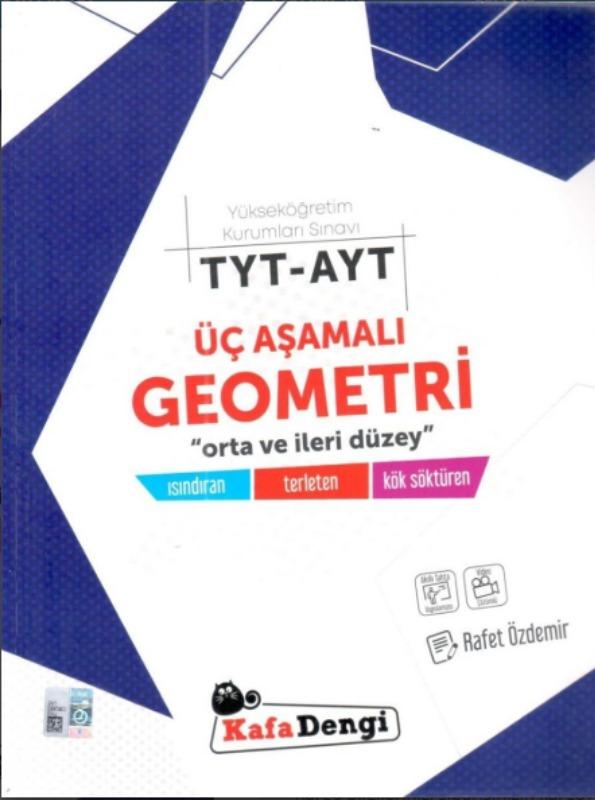 TYT AYT Üç Aşamalı Geometri Soru Bankası Kafadengi Yayınları