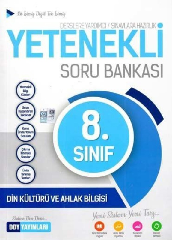 DDY Yayınları 8. Sınıf Yetenekli Din Kültürü ve Ahlak Bilgisi Soru Bankası