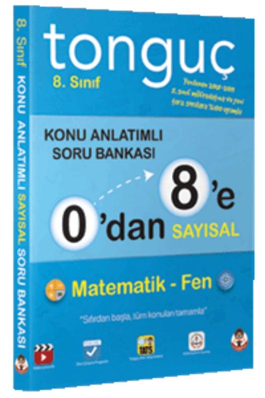 Tonguç Akademi 8.Sınıf  A0'dan 8'e Sayısal Konu Anlatımlı Soru Bankası