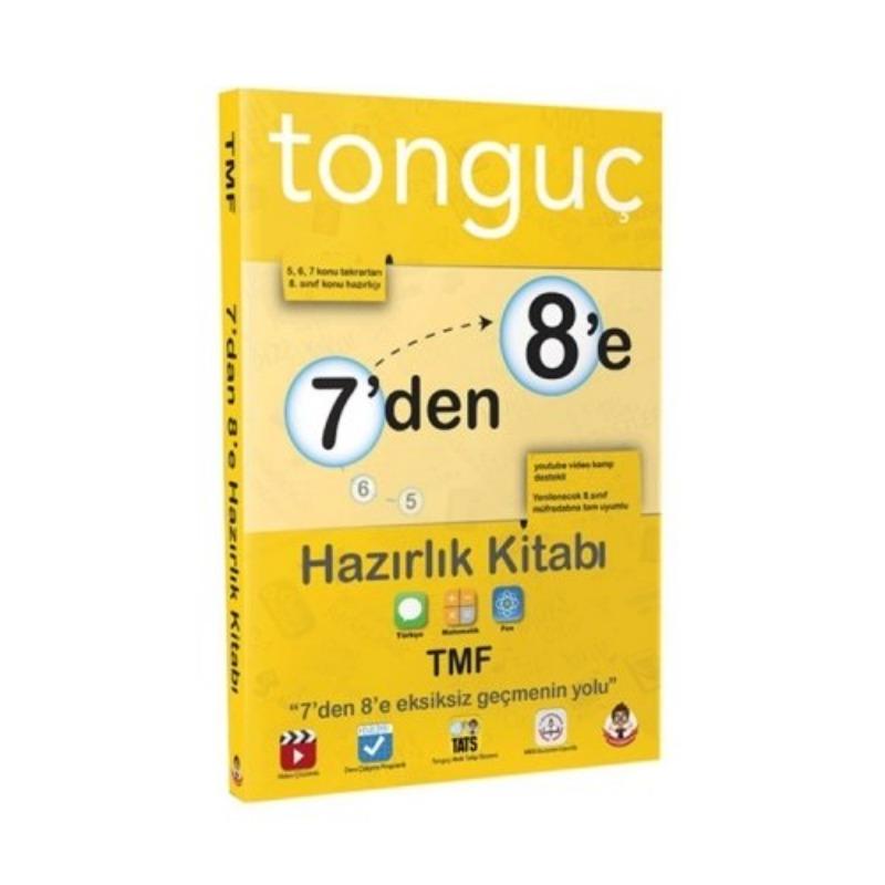 Tonguç Akademi 8. Sınıf 7 den 8 e Türkçe Matematik Fen Bilimleri Hazırlık Kitabı