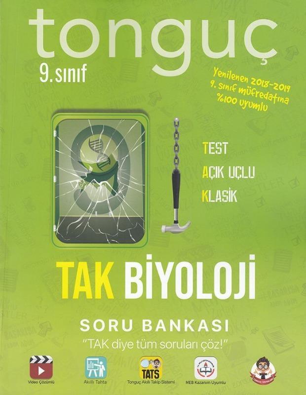 Tonguç Akademi 9. Sınıf TAK Biyoloji Soru Bankası