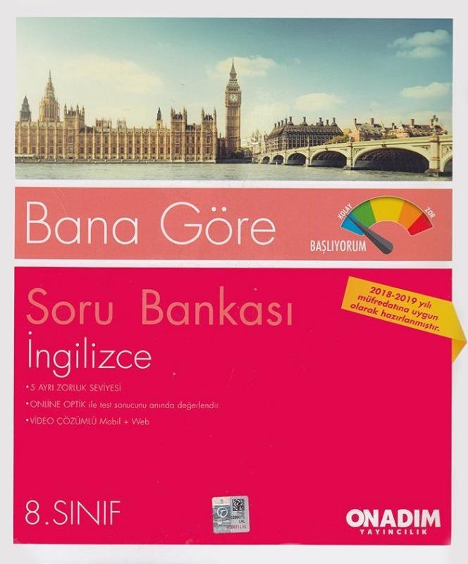 Onadım Yayıncılık 8. Sınıf İngilizce Soru Bankası