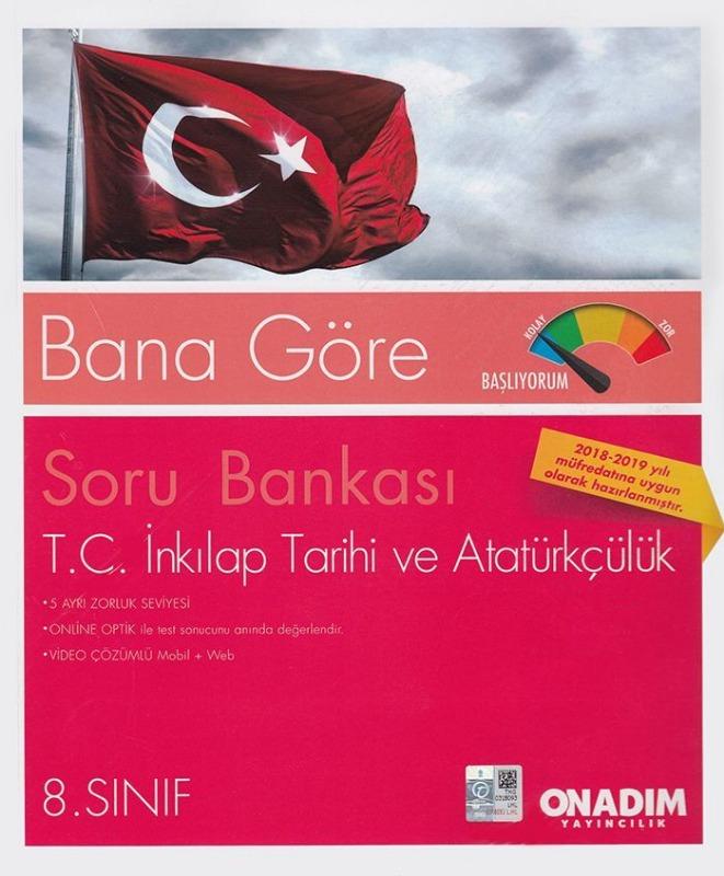Onadım Yayıncılık 8. Sınıf T. C. İnkılap Tarihi ve Atatürkçülük Soru Bankası