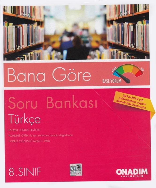 Onadım Yayıncılık 8. Sınıf Türkçe Soru Bankası
