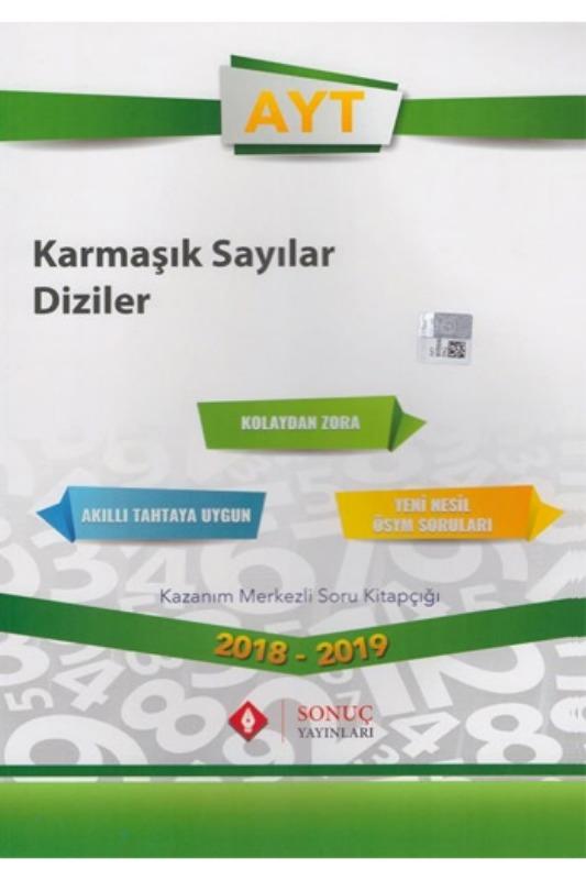 Sonuç Yayınları AYT Karmaşık Sayılar Diziler Kazanım Merkezli Soru Bankası