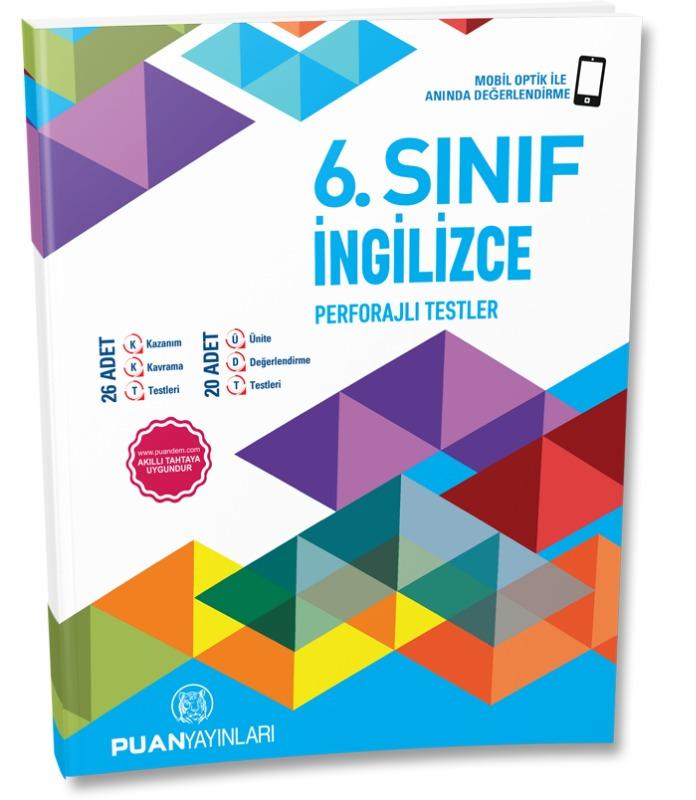 6. Sınıf İngilizce Perforajlı Testler Puan Yayınları